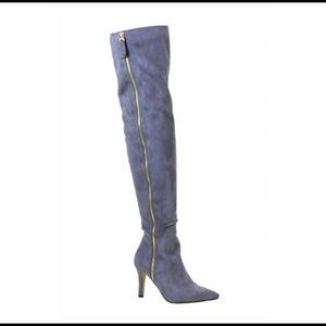 Shoes - MONIECE GOLD ZIPPER BOOTS